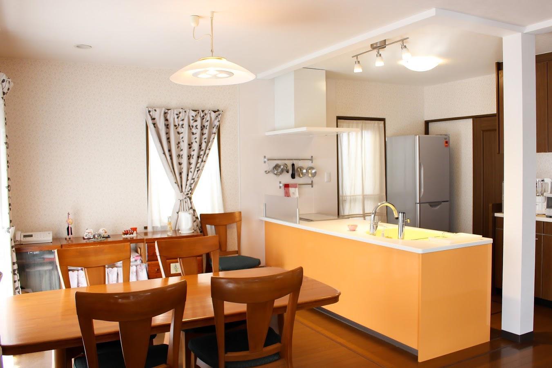 キッチン 施工事例 北九州 遠賀 トクラス オレンジ 対面